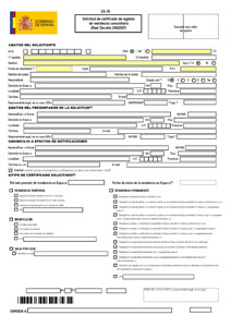 Spanish Residency Form