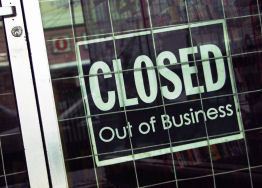 More companies closed their doors